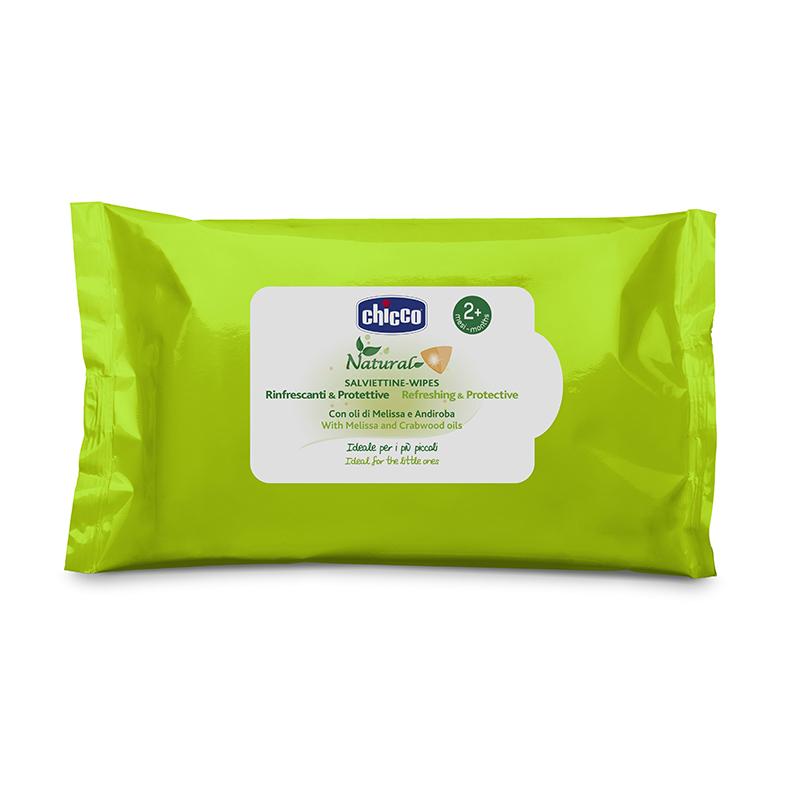 Servetele umede Chicco, ulei de melissa/andiroba, 20 bucati, 2 luni+ 2021 shopu.ro