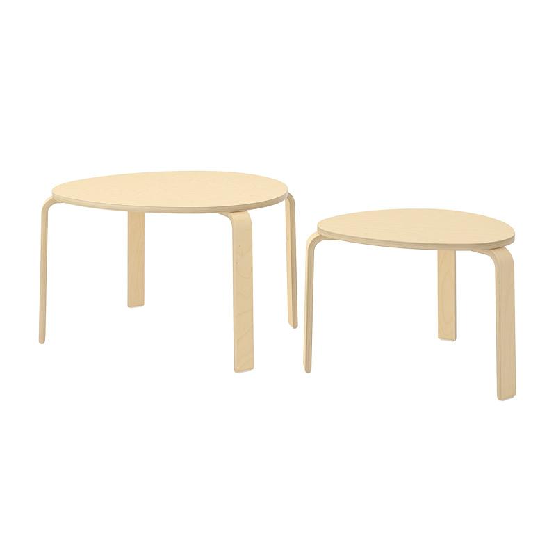 Set 2 mese pentru living, diametru 55/73 cm, model lemn 2021 shopu.ro