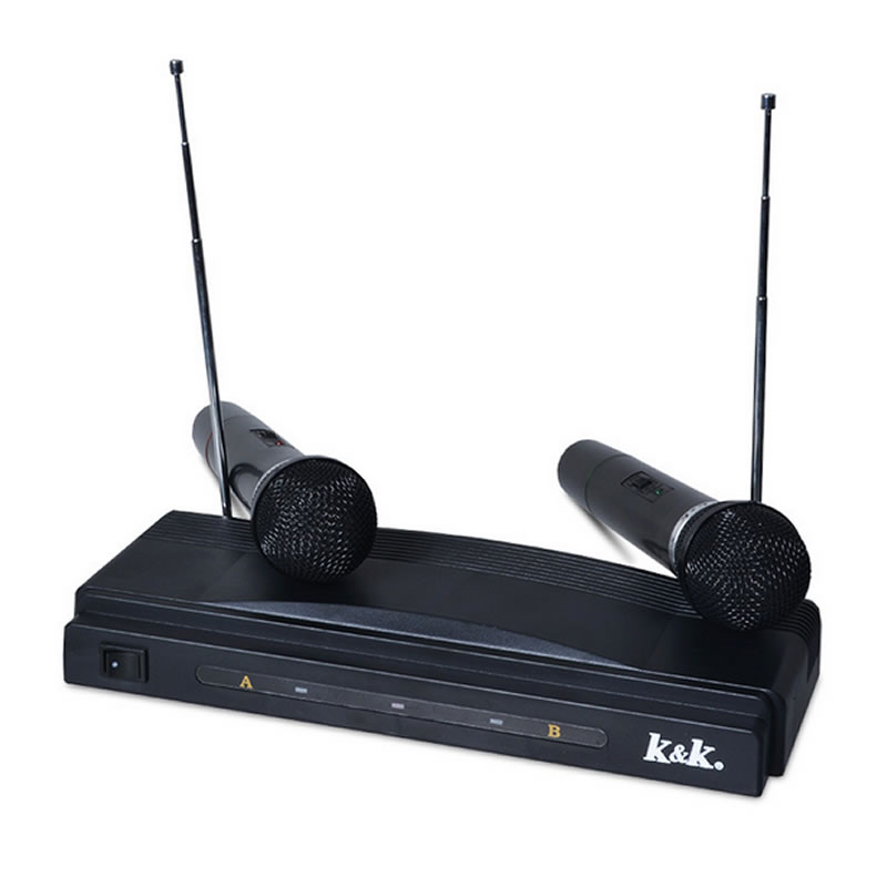 Set 2 microfoane wireless AT-306, emisie FM