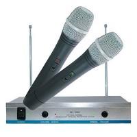 Set 2 microfoane wireless karaoke AK-3300, frecventa reglabila