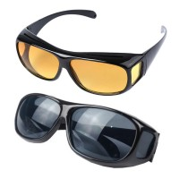 Set 2 perechi ochelari zi si noapte HD Vision, protectie UV