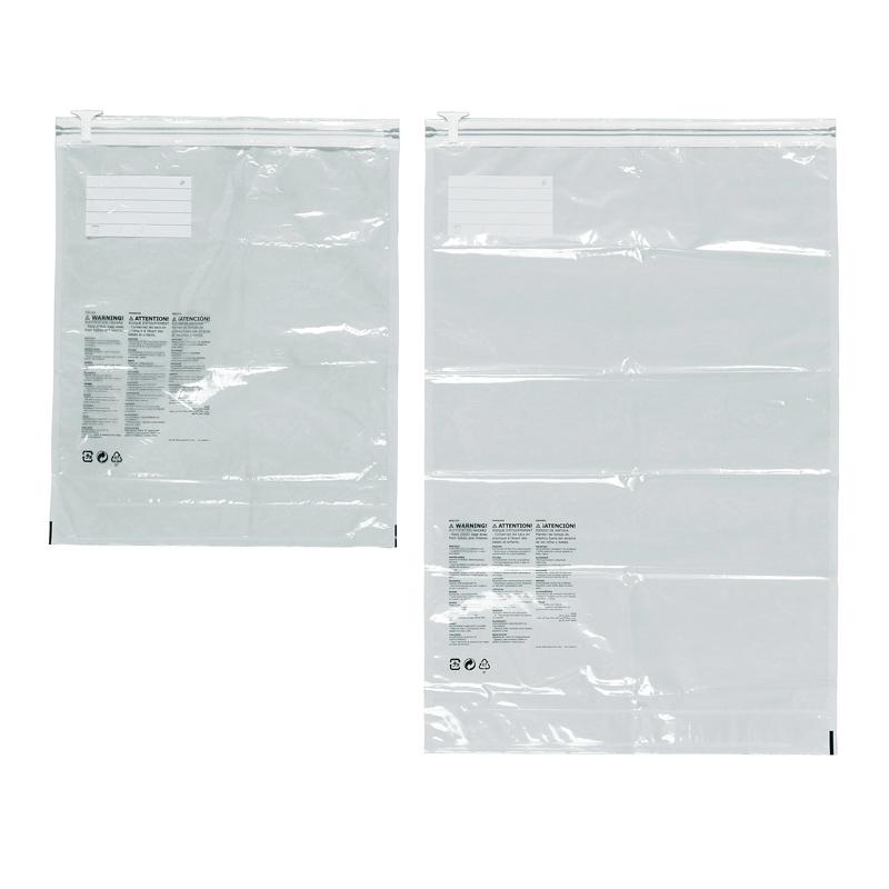 Set 2 saci pentru vidat, 46 x 57 cm / 55 x 85 cm, Transparent shopu.ro