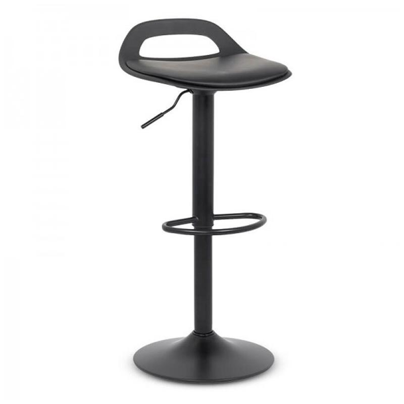 Scaun bar, inaltime 93 cm, maxim 100 kg, structura metalica, Negru 2021 shopu.ro