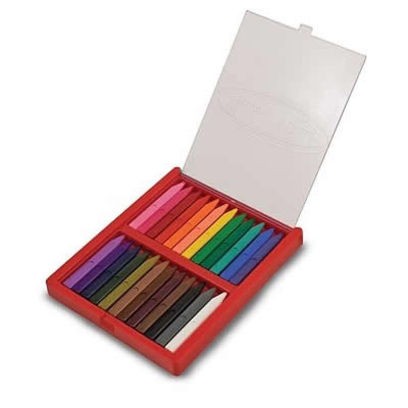Set 24 creioane colorate triunghiulare 2021 shopu.ro