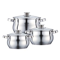 Set 3 cratite inox cu capac Peterhof PH-15775, fund 5 straturi