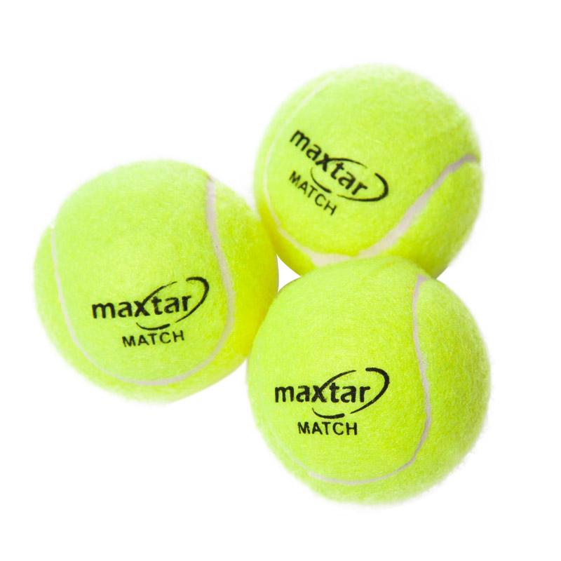 Set 3 mingi pentru tenis de camp Maxtar, verde 2021 shopu.ro