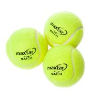 Set 3 mingi pentru tenis de camp Maxtar, verde