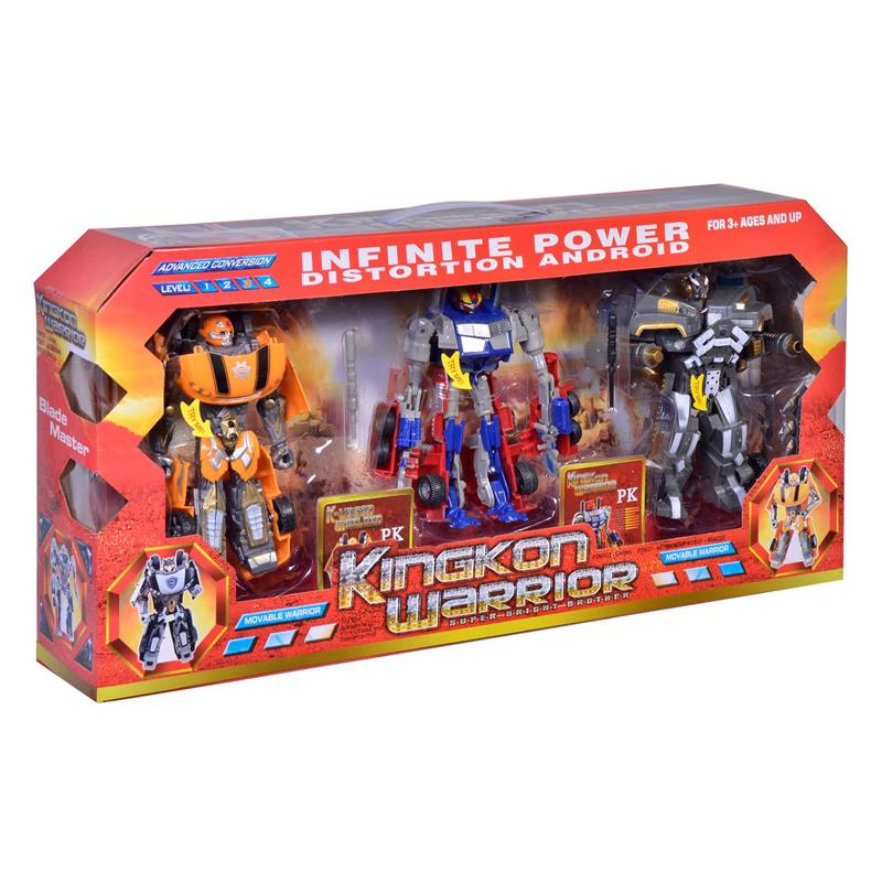 Set 3 roboti Infinite Power, 17 cm, Multicolor 2021 shopu.ro