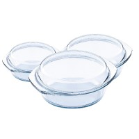 Vase sticla termorezistente Vabene, 3 piese, capace