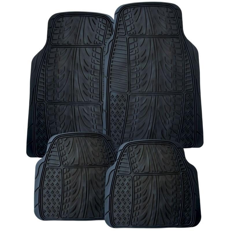 Set 4 covorase auto din PVC RoGroup, model anvelopa 2021 shopu.ro