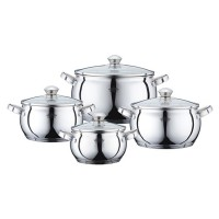 Set 4 cratite inox cu capac Peterhof PH-15833, fund din 5 straturi