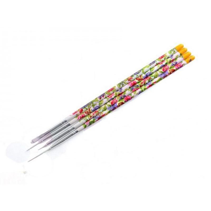 Set 4 pensule cu motiv floral