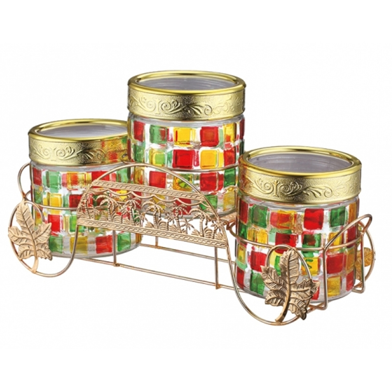 Set borcane si suport Peterhof, 4 piese