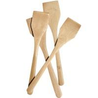 Set 4 spatule patrate Oranjollie, bambus