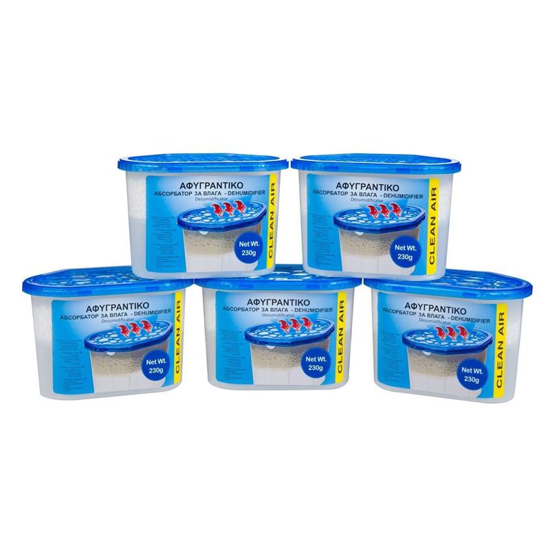 Set 5 absorbante umiditate Clean Air, suprafata 35 mp, 230 gr 2021 shopu.ro