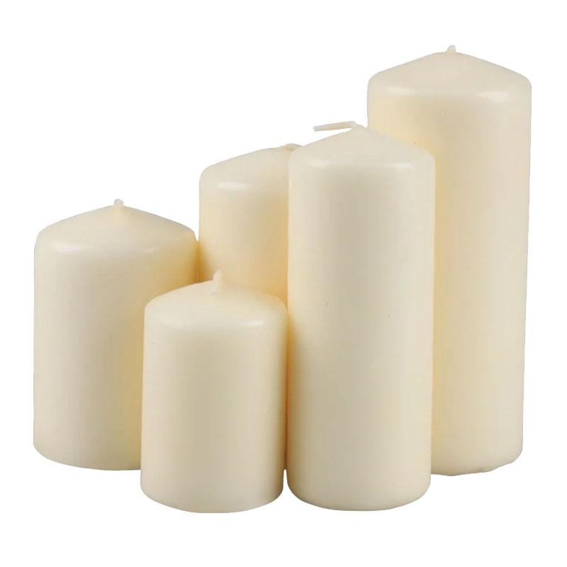 Set 5 lumanari Ivory Collars, 1000 grame