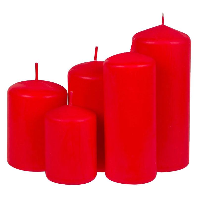 Set 5 lumanari Red Bordeaux, 1000 grame 2021 shopu.ro