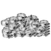 Set 50 coliere fixare RoGroup, otel zincat, 1 inch, 25 mm