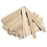 Set 50 spatule mari pentru ceara Oranjollie, lemn