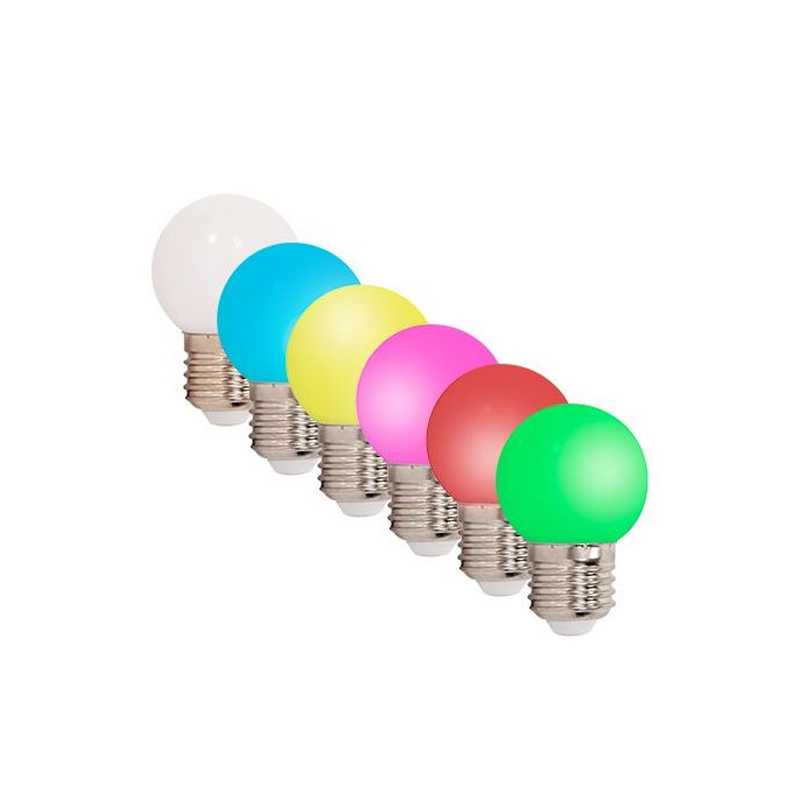 Set 6 Becuri LED, colorate, soclu E27 2021 shopu.ro