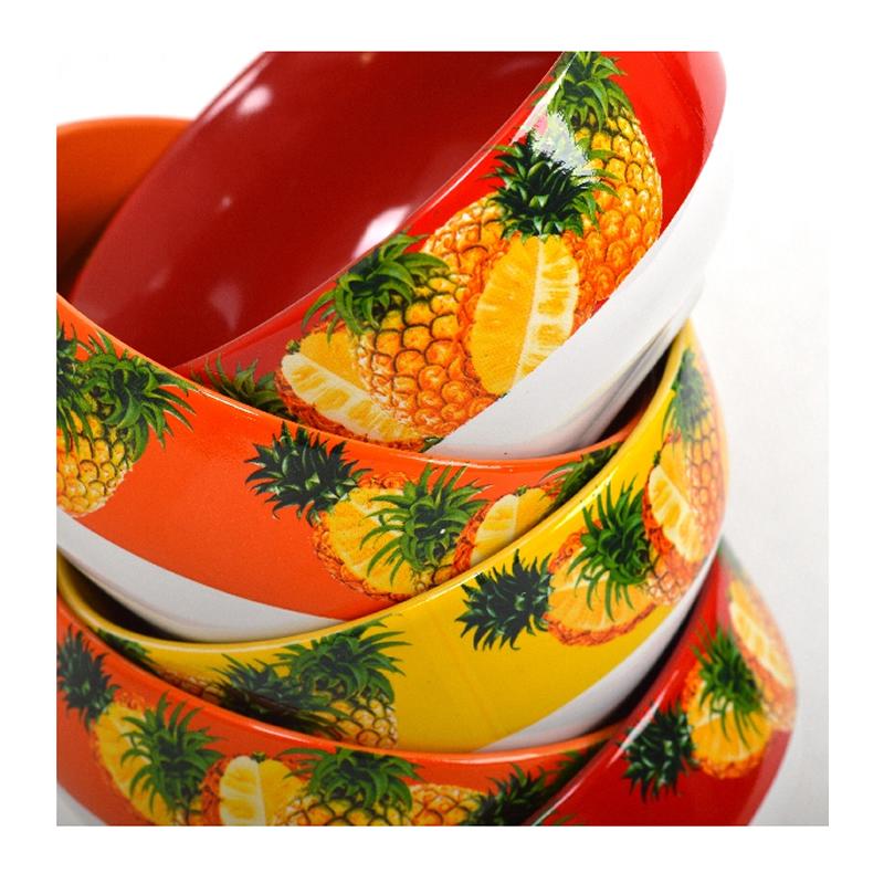 Set 6 boluri pentru musli Vabene, model fructe