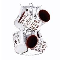 Set 6 cani din ceramica Vabene VB-6070084, 280 ml