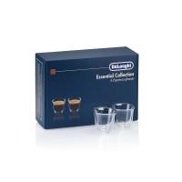 Set pahare espresso DeLonghi Essential Collection, 60ml, sticla termorezistenta, transparente, perete dublu, 2 bucati