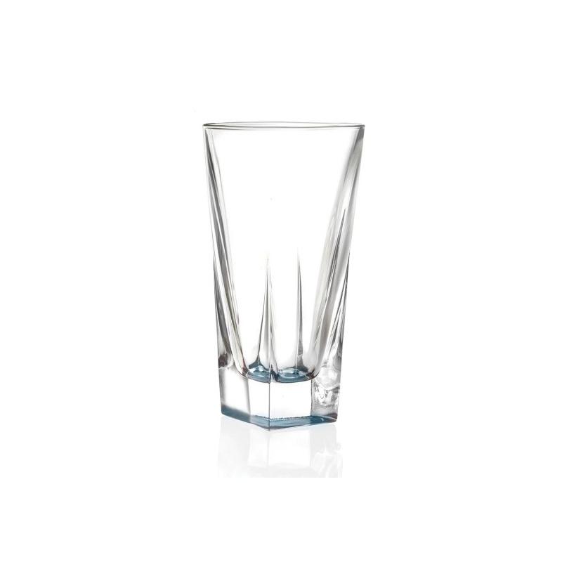 Set pahare inalte apa HB Fusion RCR, 380 ML, colorate, sticla cristalina, 6 bucati 2021 shopu.ro