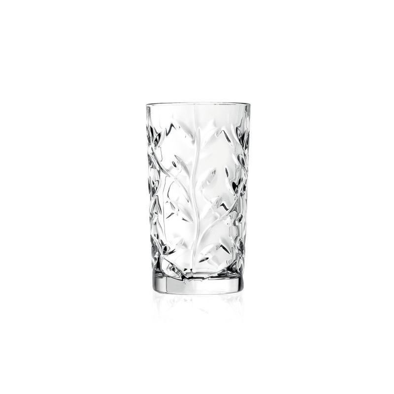 Set pahare inalte apa HB Laurus RCR, 360 ml, sticla cristal, transparent, 6 bucati 2021 shopu.ro