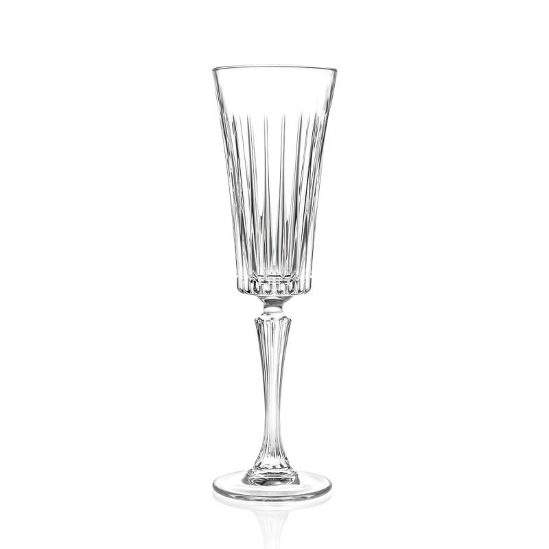 Set pahare sampanie Timeless RCR, 210 ML, sticla cristalina, transparent, 6 bucati 2021 shopu.ro