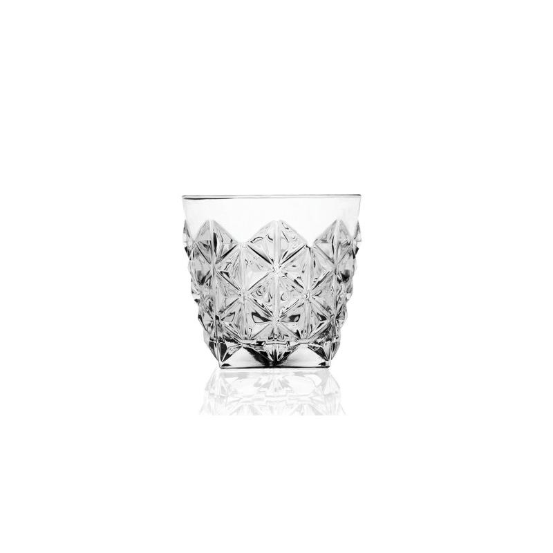 Set pahare whisky Dof Enigma RCR, 372 ML, sticla cristalina, transparent, model diamant, 6 bucati 2021 shopu.ro