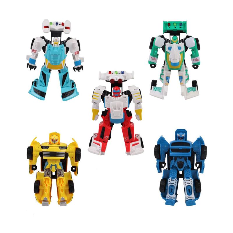 Set 6 roboti Light & Sound, sunete si lumini, 3 ani+ 2021 shopu.ro