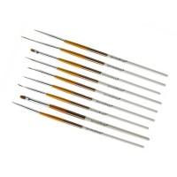 Set pensule NBS09, 9 bucati, maner lemn