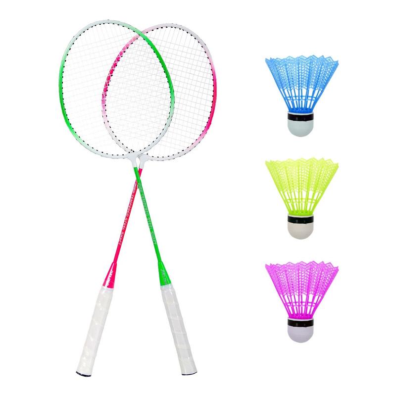 Set Badminton, 3 fluturasi, 66 cm, maner anti-aluncare 2021 shopu.ro