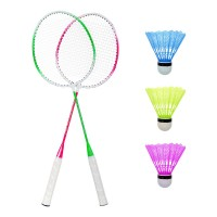 Set Badminton, 3 fluturasi, 66 cm, maner anti-aluncare