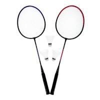 Set Badminton, 3 fluturasi, maner anti-aluncare