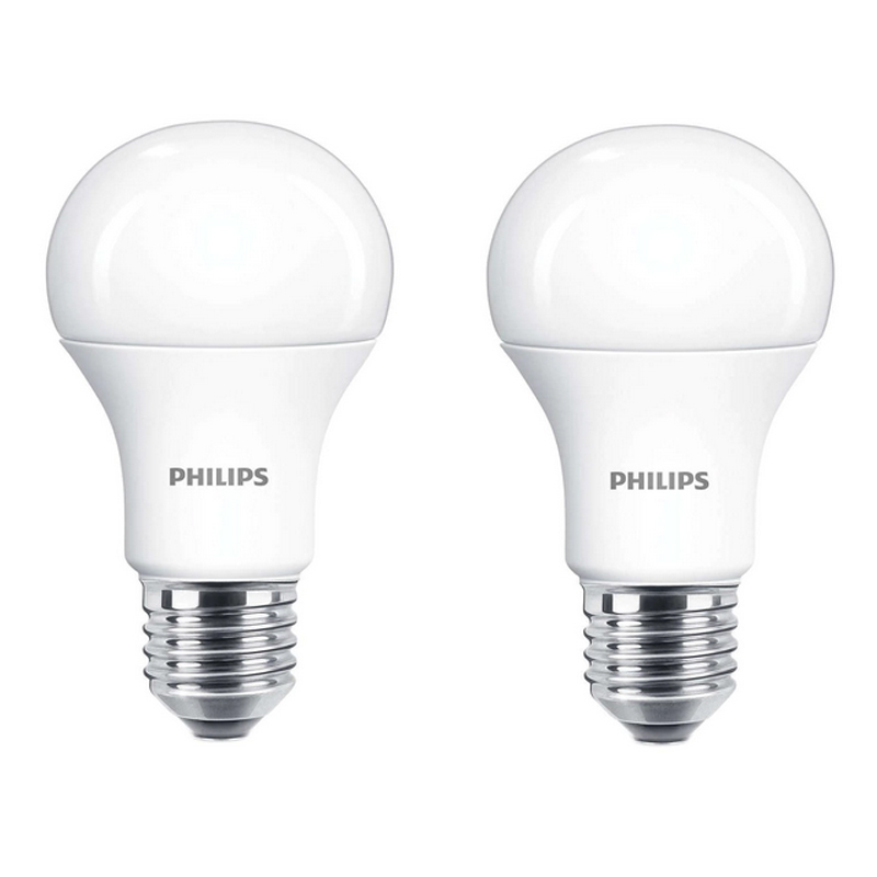 Set Becuri LED Philips, 13 W, 2700 K, 1521 Lumeni, E27, alb cald, 15000 ore, A+, 2 bucati shopu.ro