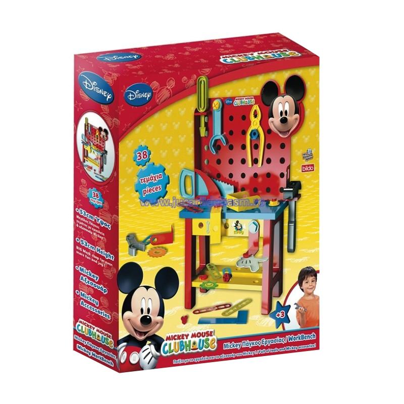 Set banc de lucru pentru copii Mickey Mouse, 38 accesorii 2021 shopu.ro