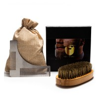 Set barber Yoshimoto The perfect Shape, 1 x pieptene otel, 1 x perie, saculet inclus