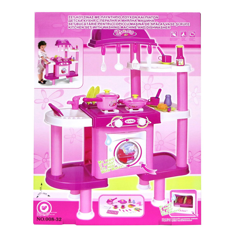 Set bucatarie pentru copii, 4 x AA, accesorii incluse