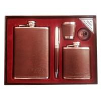Set cadou pentru barbati Moongrass, 2 x sticla whiskey, pix, pahar shoturi