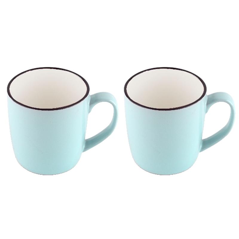 Set cani ceramica Vabene, 2 piese, albastru deschis