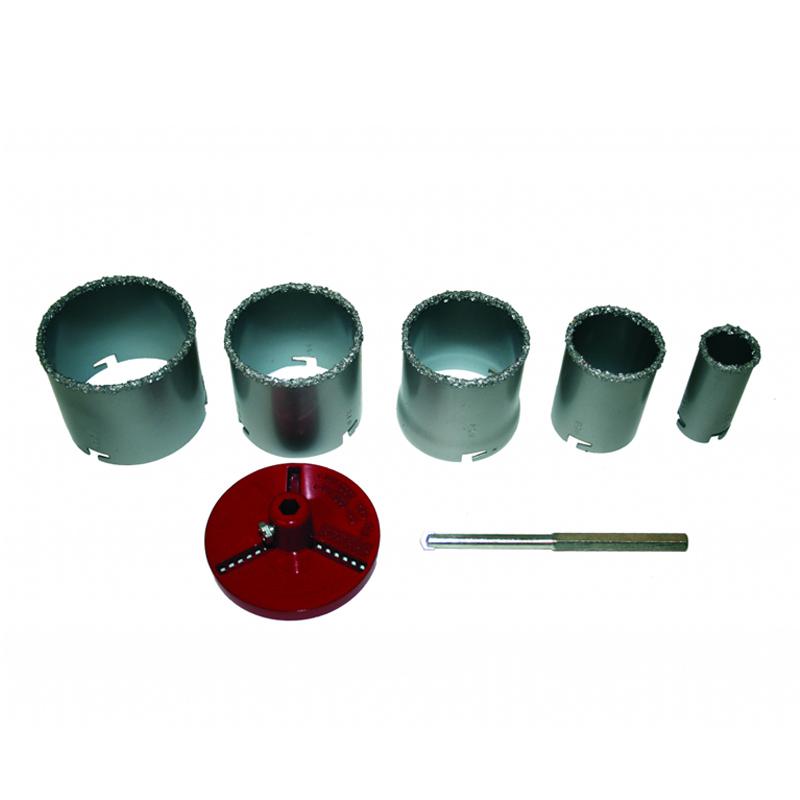 Set carote pentru placi ceramice Raider, 33-83 mm