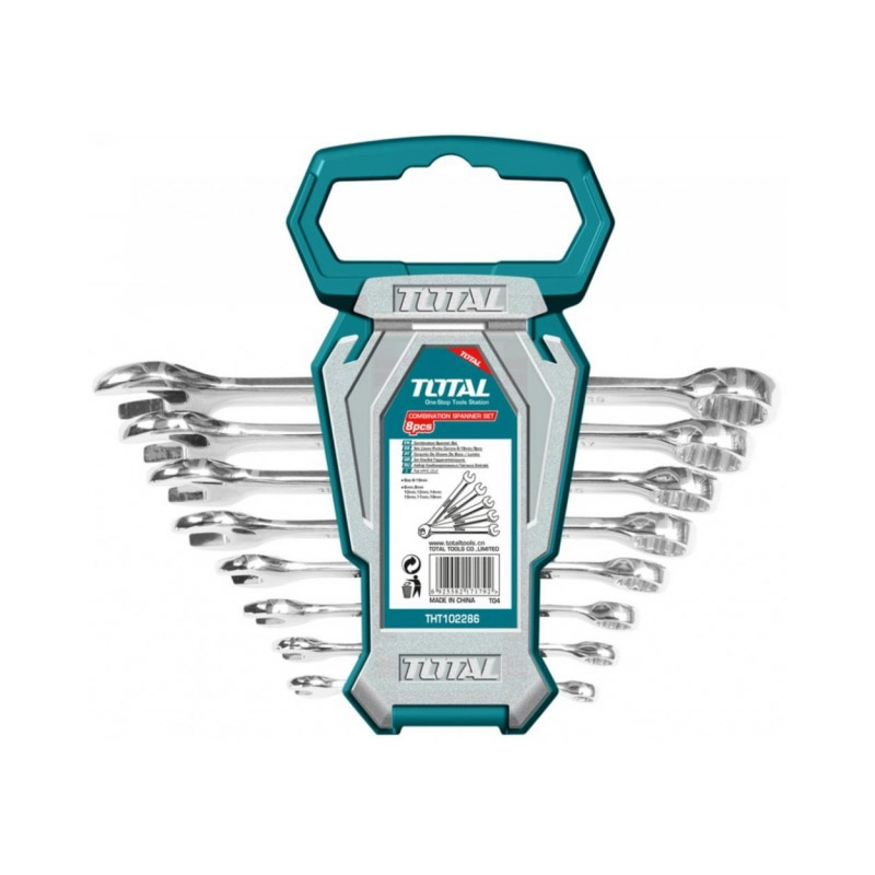 Set chei combinate Total, 6 - 19 mm, 8 piese