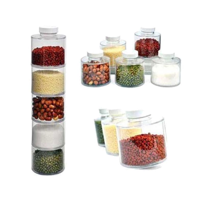Set condimente Spice Tower, 6 recipiente, transparent