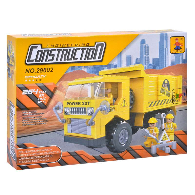 Set constructie Engineering Construction Ausini, 264 piese 2021 shopu.ro