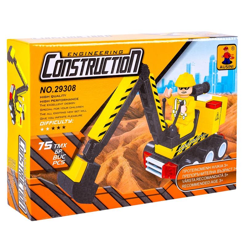 Set constructie Engineering Construction Ausini, 75 piese 2021 shopu.ro