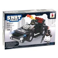 Set constructie Swat Police Ausini, 146 piese