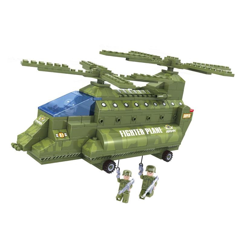 Set constructie avion Army Ausin, 308 piese 2021 shopu.ro