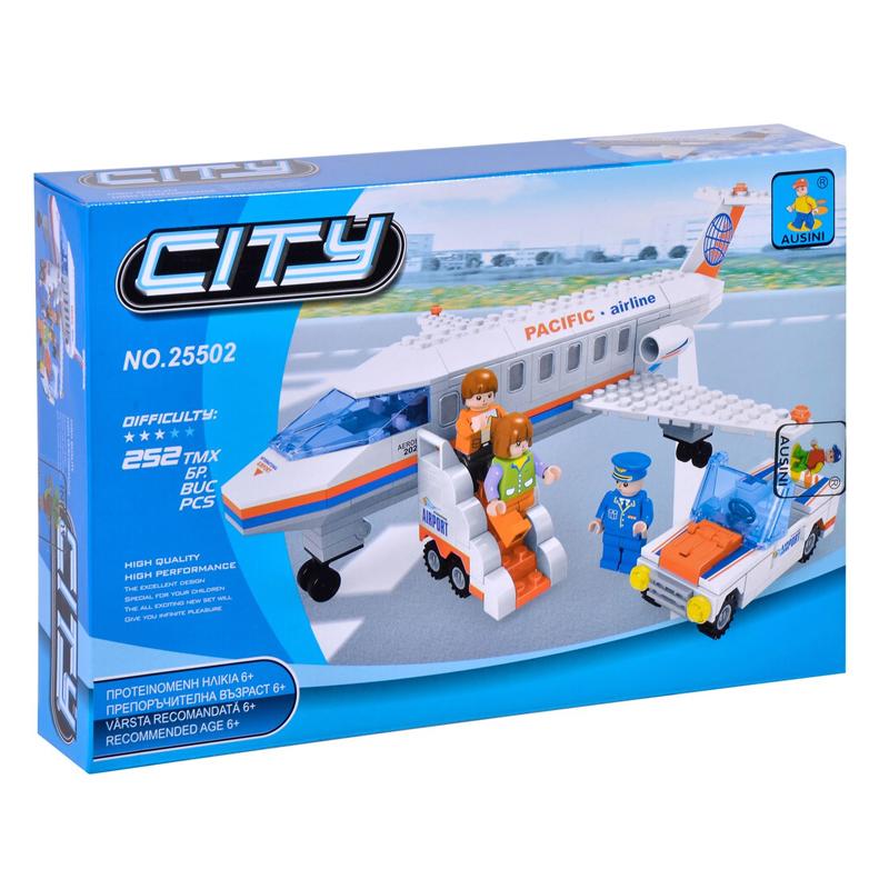 Set constructie avion City Ausini, 252 piese 2021 shopu.ro